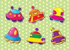 Ufo stickers. Vector illustration of ufo stickers set stock illustration