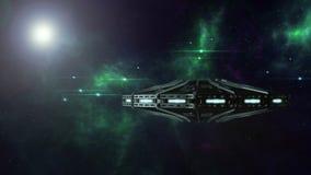 UFO stupéfiant dans le cosmos Photos stock