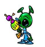 UFO  Toon  alien blaster  Stock Image