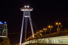 UFO Tower and Novy Most Bridge Royalty Free Stock Image