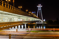 UFO Tower and Novy Most Bridge Royalty Free Stock Photo