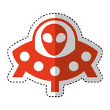 Ufo toy baby isolated icon Stock Images