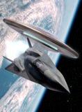 UFO-und Platzflugzeug Lizenzfreies Stockbild
