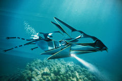 ufo under vatten stock illustrationer