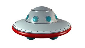 UFO. An unidentify flying object in retro toy style royalty free illustration