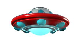 UFO. An unidentify flying object in retro toy style Stock Photo