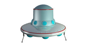 UFO. An unidentify flying object in retro toy style Royalty Free Stock Photography