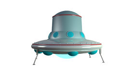 UFO. Unidentify object  from outer space in retro style with clipping mask Royalty Free Stock Images