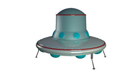 UFO. Unidentify object  from outer space in retro style with clipping mask Stock Image