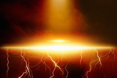 Ufo utomjordiskt rymdskepp Arkivfoton