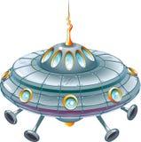 Ufo van het beeldverhaal stock illustratie