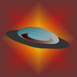 Ufo. Vector logo with theme the ufo Royalty Free Stock Image