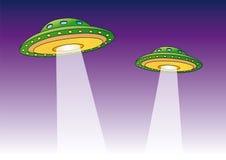 ufo-vektor Royaltyfria Bilder