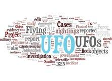 UFO verwante woordenwolk Stock Foto