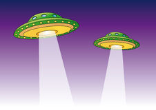 UFO (vetor) Imagens de Stock Royalty Free