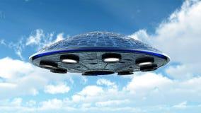 UFO w niebie ilustracja wektor