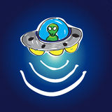UFO w przestrzeni z gwiazdami Obraz Stock