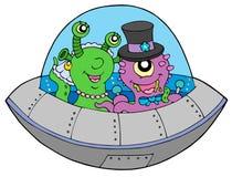 UFO wedding. On white background - vector illustration Royalty Free Stock Photos