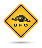 Ufo yellow sign Stock Images