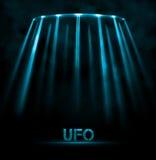 UFOachtergrond Royalty-vrije Stock Fotografie