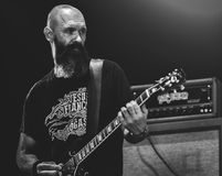 Ufomammut live in concert 2017 doom metal. Ufomammut  is an Italian doom metal power trio formed in 1999. The band consists of guitarist Poia, bassist and Royalty Free Stock Photo