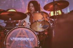 Ufomammut Vita levande konsert i Hellfest 2017 Arkivfoton