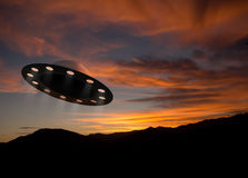 UFOs aka unidentified flying saucers, objects Royalty Free Stock Image