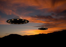 UFOs aka unidentified flying saucers, objects Royalty Free Stock Photography