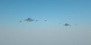 UFOs distante Fotografia de Stock