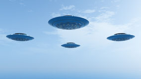 UFOs in Formation Stock Images