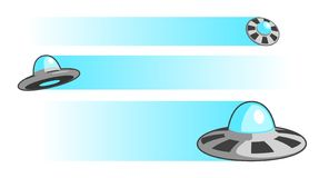 UFOs illustration  Royalty Free Stock Photo