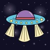 UFOs nello spazio della galassia e nella creazione misteriosa Fotografie Stock