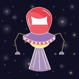UFOs nello spazio della galassia e nella creazione misteriosa Immagini Stock