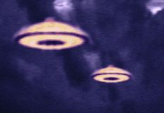 Ufos in sky Royalty Free Stock Photo