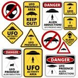 UFOschepen Stock Afbeeldingen