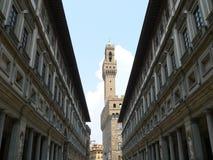 Ufuzzi e Palazzo Vecchio, Firenze ( Italia ) Royalty Free Stock Photography
