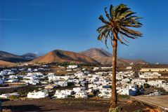 Uga village on Lanzarote Royalty Free Stock Photo