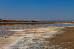 Ugab river mouth Stock Images