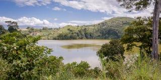 Uganada mountain crater lake Royalty Free Stock Image