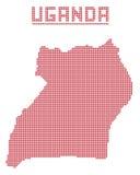 Uganda África Dot Map Fotos de archivo libres de regalías