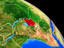 Uganda auf Planet Erde vektor abbildung