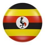 Uganda button on white background Stock Image