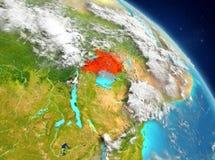 Uganda de la órbita ilustración del vector
