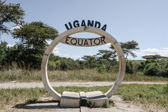 Uganda Equator sign. The sign of the equator in Uganda Royalty Free Stock Images
