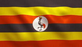 Uganda Flag Royalty Free Stock Photo