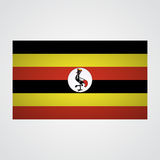 Uganda flag on a gray background. Vector illustration Stock Photography