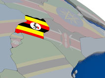 Uganda with flag Royalty Free Stock Image