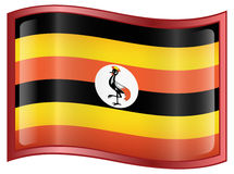 Uganda Flag Icon Royalty Free Stock Photos