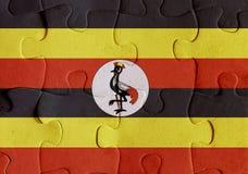 Uganda flag puzzle Royalty Free Stock Image