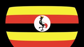 Uganda Flag Transition 4K. Smooth and Elegant flag animation with alpha matte. Great 2D look that is perfect for any kind of videos dealing with a world view stock footage